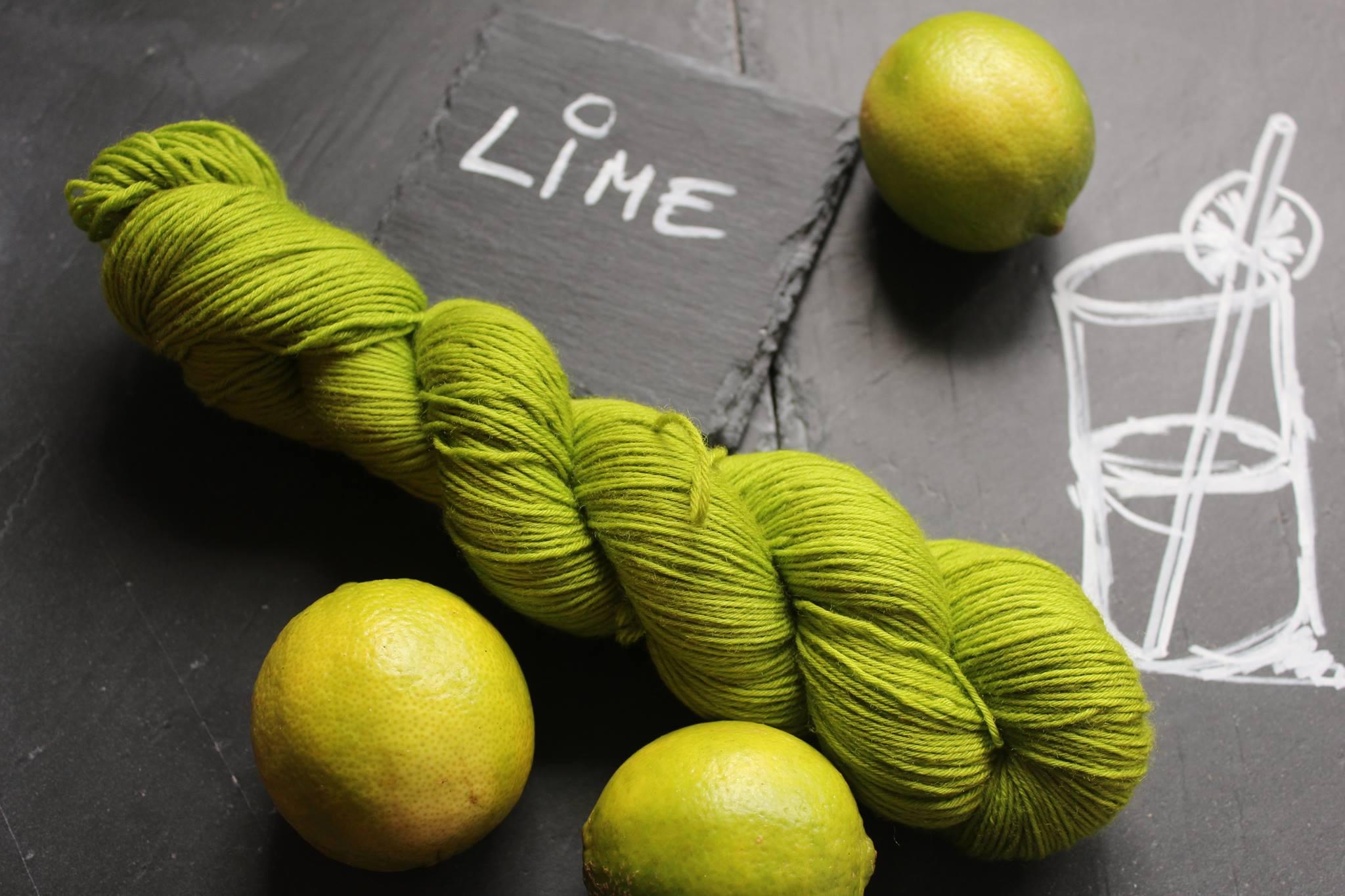 Lime Seide Merino