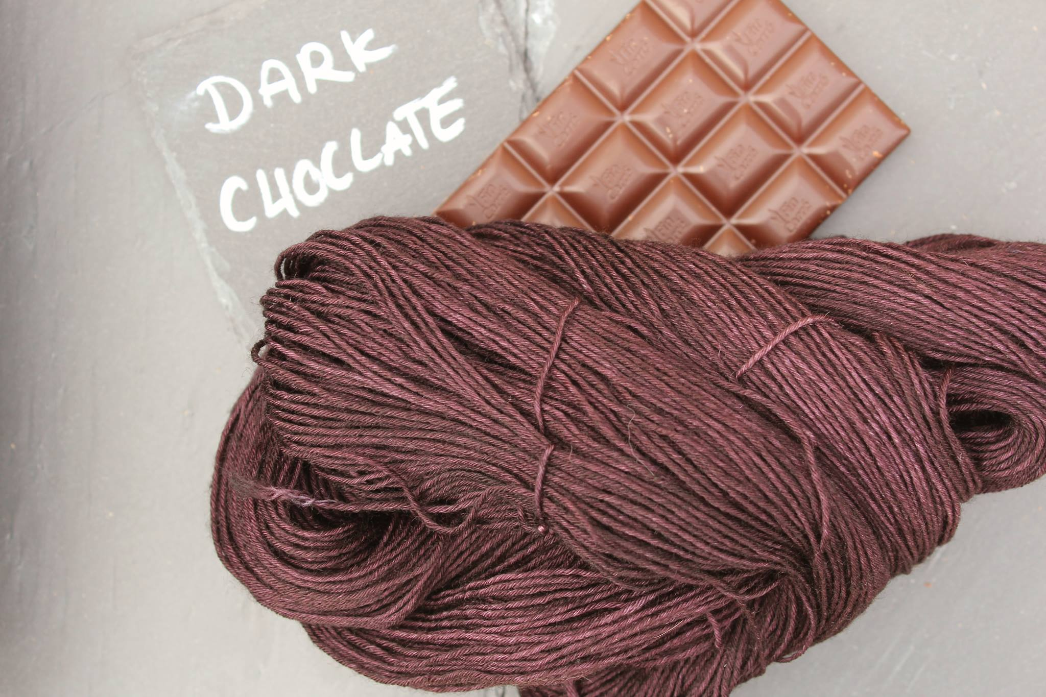 Dark Choclate Seide Merino
