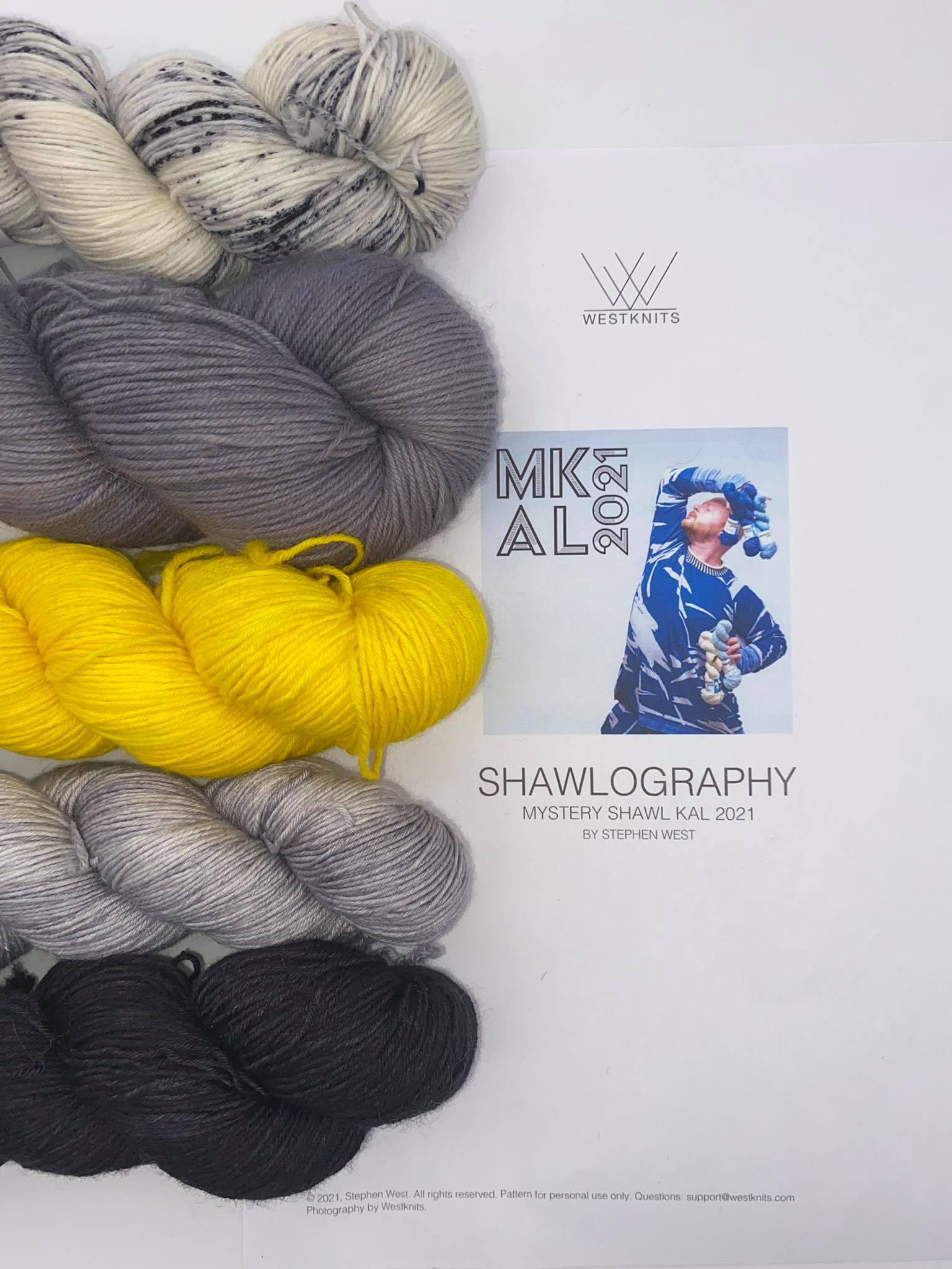 Woll Set Stephen West MKAL Shawlography #10