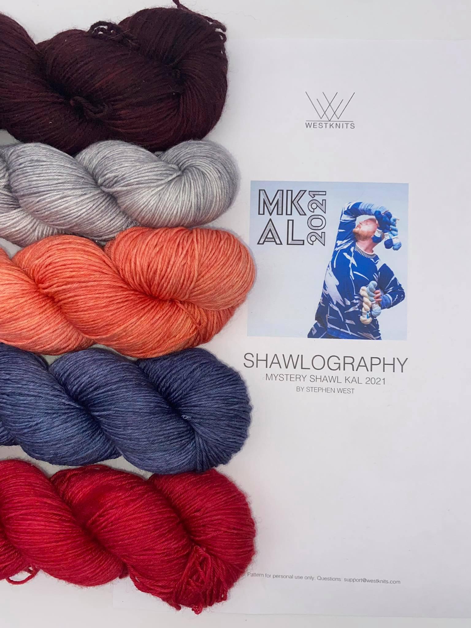 Woll Set Stephen West MKAL Shawlography #24