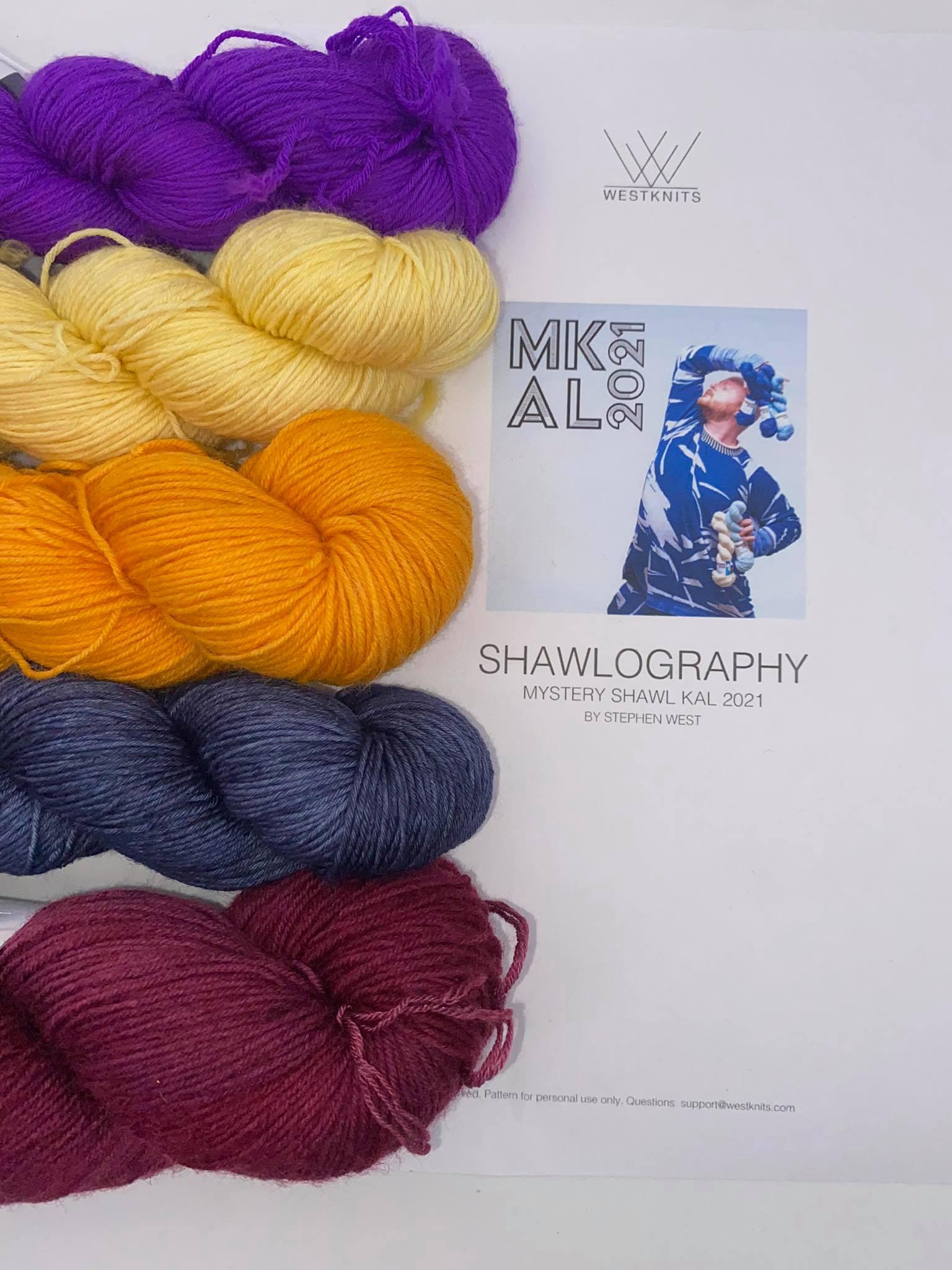 Woll Set Stephen West MKAL Shawlography #22