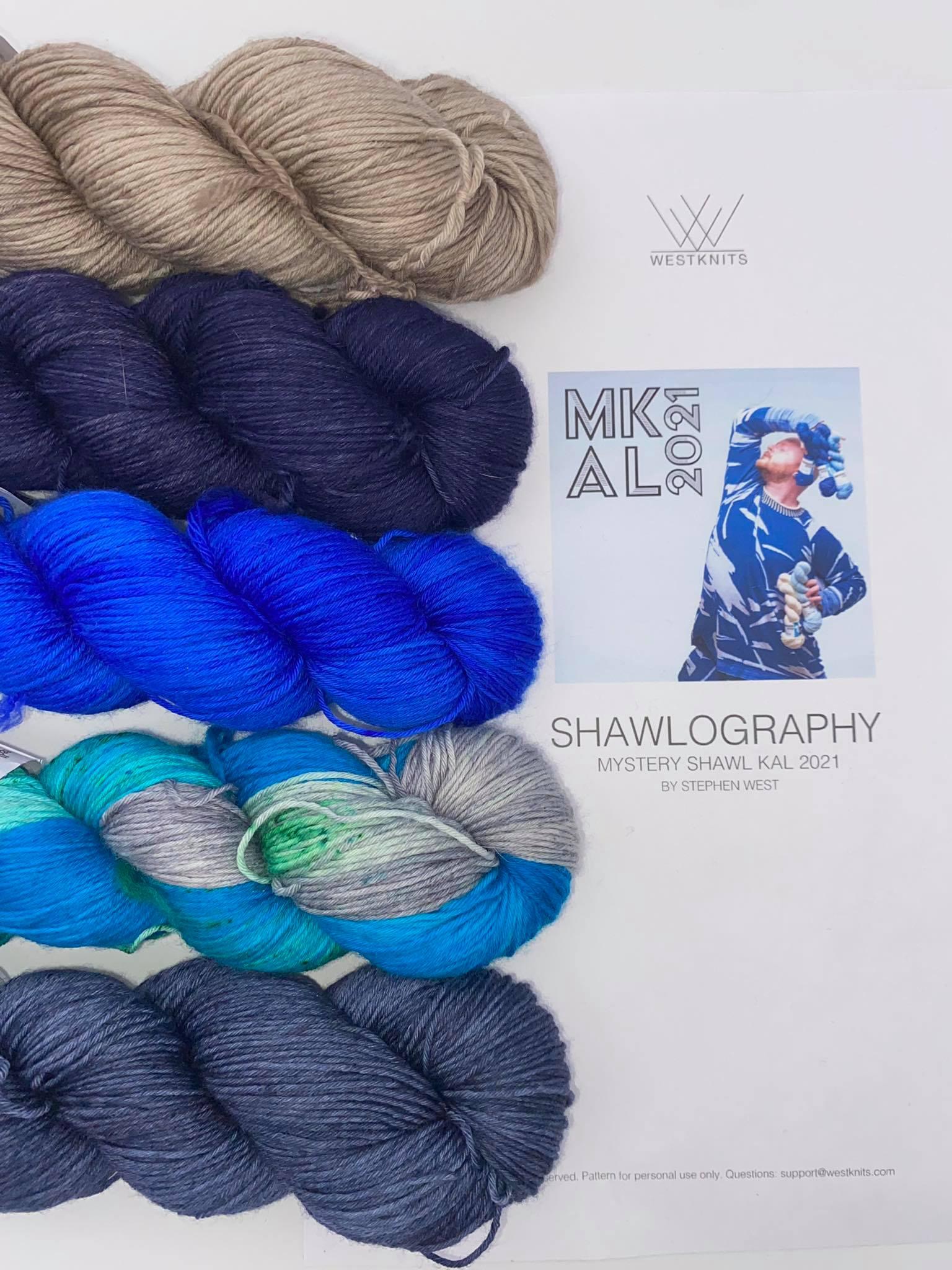 Woll Set Stephen West MKAL Shawlography #19