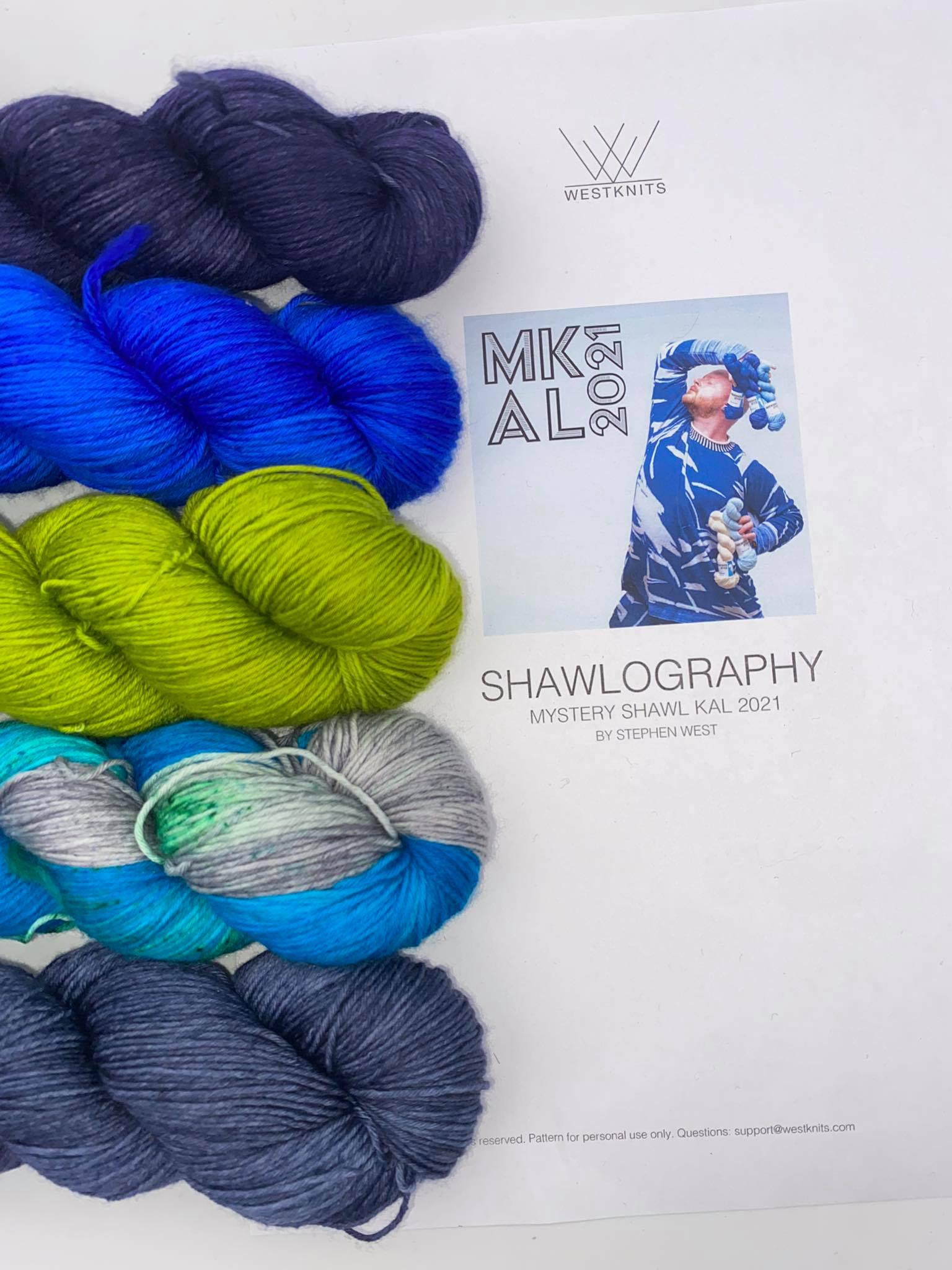 Woll Set Stephen West MKAL Shawlography #18