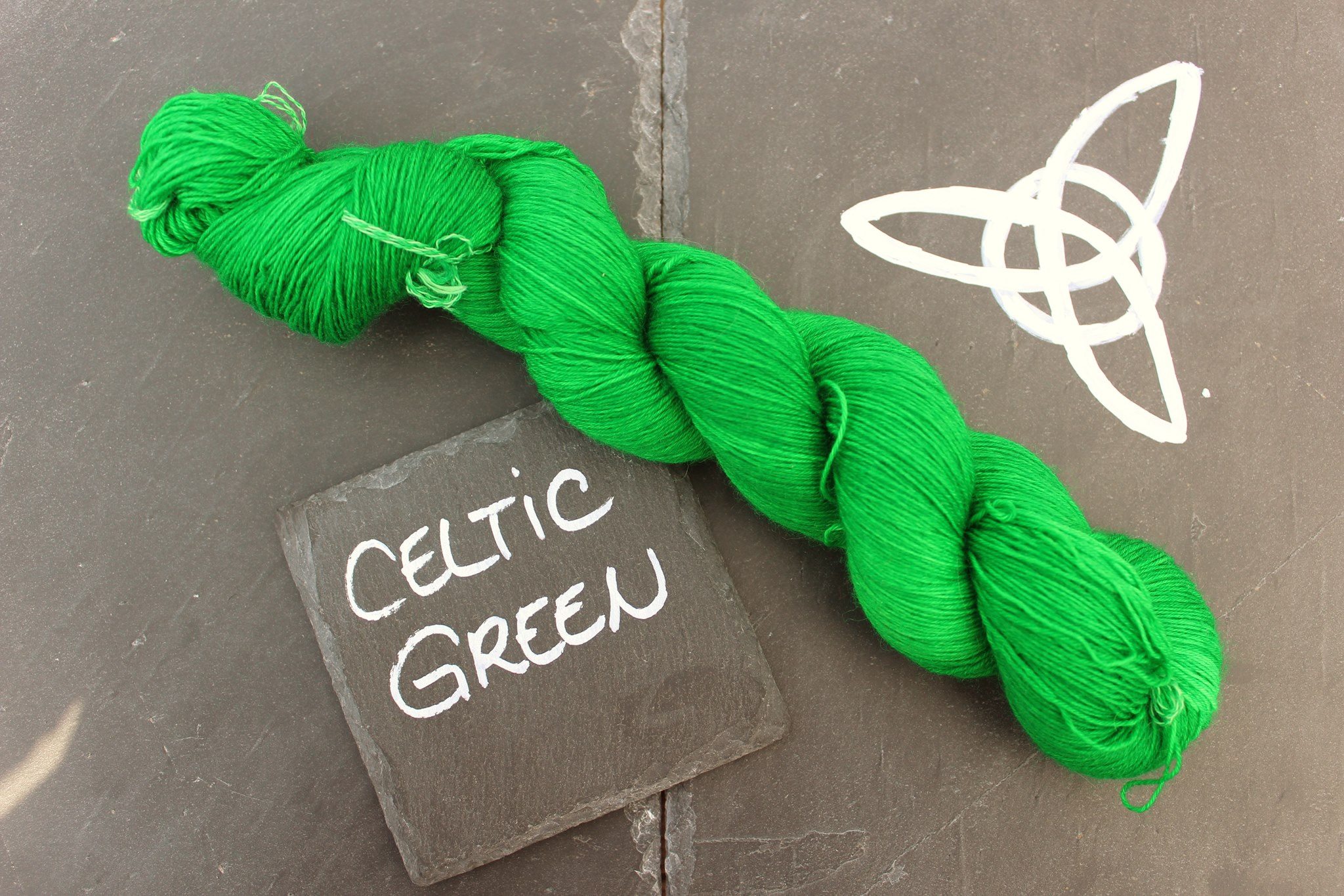 Celtic green Seide Merino