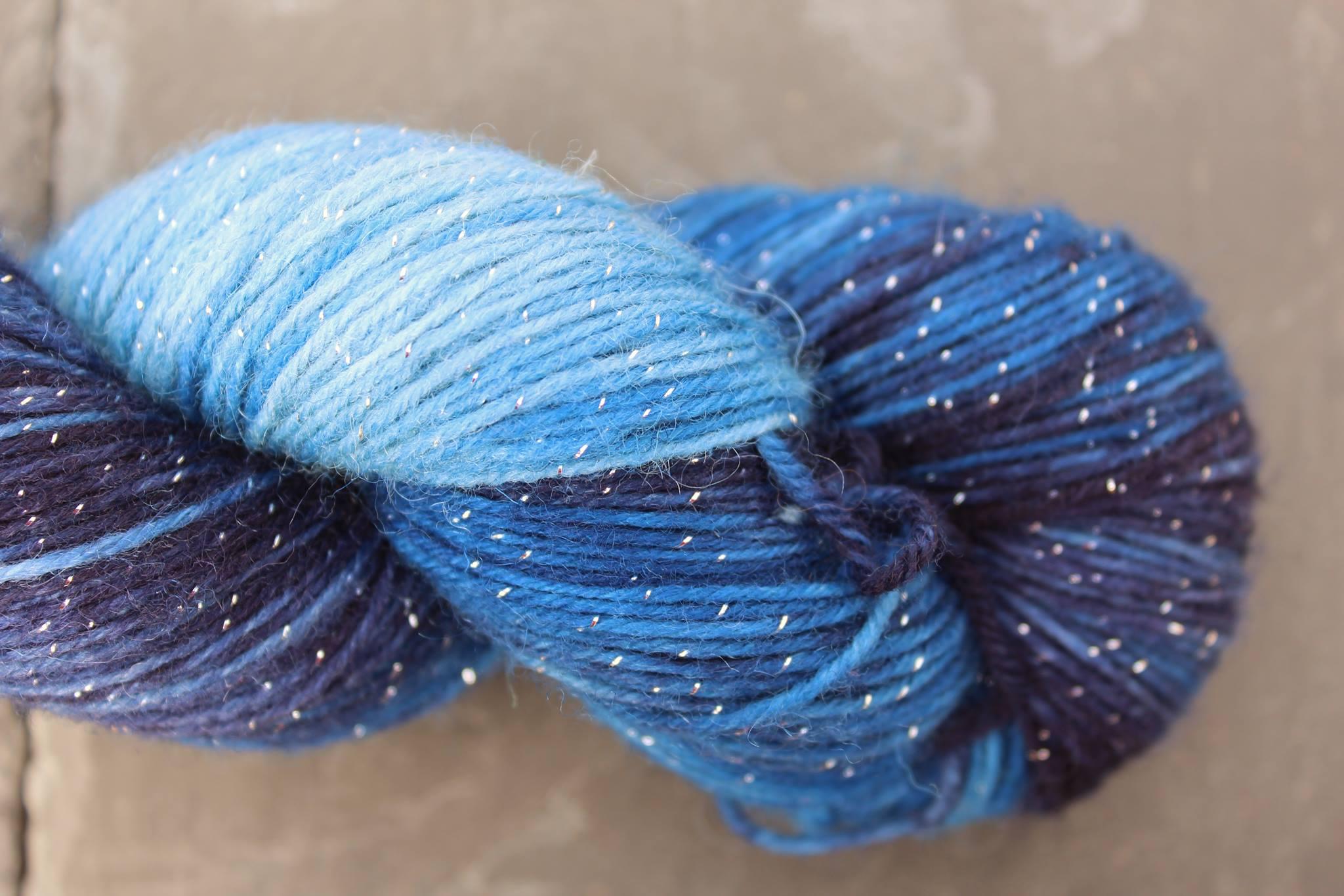 Blue Moon Glitzer Sockenwolle